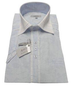 Chemisette-AJJ777-Enzo-Nucci-bleu-taille-39-40-M-HOMME-chemise-ete-slim-fit-NEUF
