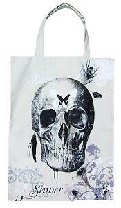 AMPLIFIED SKULL HOLY BUTTERFLY INDIAN SKULL Canvas Bag Shopper ViP Bag