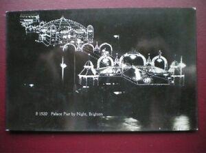 POSTCARD-SUSSEX-BRIGHTON-PALACE-PIER-BY-NIGHT