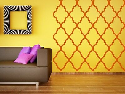 Wall Decal Geometric Moroccan Abstract Quatrefoil Pattern Shapes