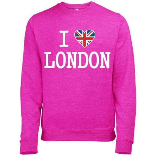 ULTIMATE I LOVE LONDON MENS UNION JACK HEART PRINTED SWEATSHIRT JUMPER
