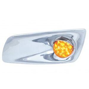 kenworth t600 t660 front bumper light bezels passenger. Black Bedroom Furniture Sets. Home Design Ideas
