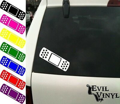 BandAid Decal Car Window Funny Laptop Sticker JDM Crack Dent Vinyl ANY SIZE