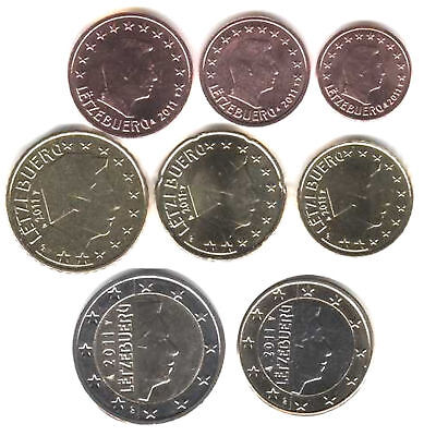 Luxembourg 2011 - Set of 8 Euro Coins (UNC)