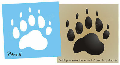"""Bear Paw STENCIL 4"""" Track Rustic Outdoor Hunting Cabin Lodge Sign shapes U paint"""