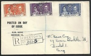 Sierra Leone 1939 R-FDCcover Freetown to Bristol