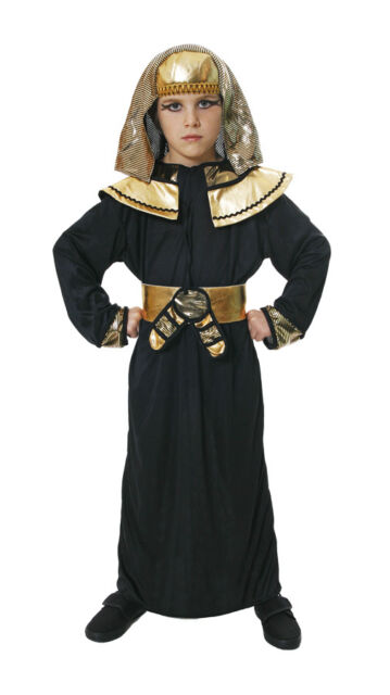 Fancy Dress Kids Egyptian Pharaoh Faraoh Prince King Fits 4-14