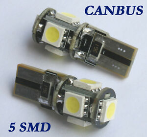 2 t10 w5w canbus 5 led smd standlicht 5smd xenon wei. Black Bedroom Furniture Sets. Home Design Ideas