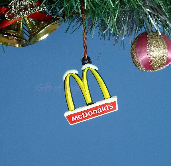 Mcdonalds Christmas Ornament.Decoration Ornament Home Party Christmas Decor Mcdonald S Logo Golden Arches M1