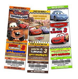 CARS-DISNEY-MCQUEEN-1-2-BIRTHDAY-PARTY-INVITATION-TICKET-baby-shower-1ST-C4
