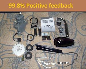 NEW-80cc-Bike-Engine-Motor-Kit-Gas-Motorized-Bicycle-2-Stroke-Silver-T80-40-MPH