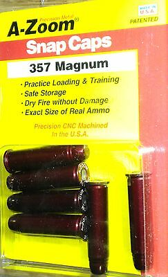 A-ZOOM Action Proving Dummy Round Aluminum Snap Cap * 357 Mag * (pk of 6) 16119
