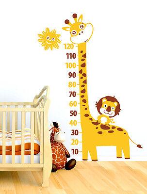 00288 Wall Stickers Bambini Adesivi Murali Giraffa Leone metro 85x154 cm
