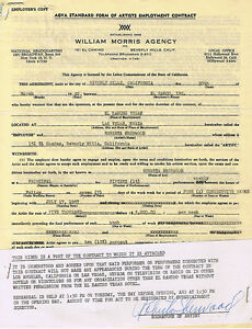 El-Rancho-Vegas-Roberta-Sherwood-Signed-Entertainment-Contract-1957-Las-Vegas-Nv