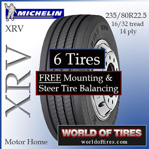 Michelin rv tires 235 80r22 5 includes shipping installation for Ebay motors shipping cost