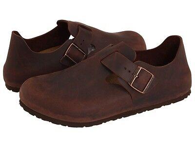 Men's Birkenstock Clogs London Brown Habana Oiled Leather