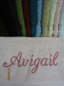Personalised-Towels-11-Colours-100-Quality-Egyptian-Cotton-Range-500-Gsm