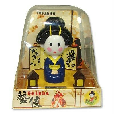 Solar Power Japanese Geisha Doll Bobble Head BL 15133-4