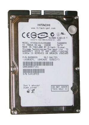 "Hitachi Travelstar 5K160 HTS541616J9SA00 160 GB,Internal,5400 RPM,2.5""..."