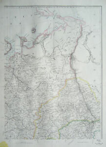 RUSSIA-in-EUROPE-North-East-Map-DISPATCH-ATLAS-1860