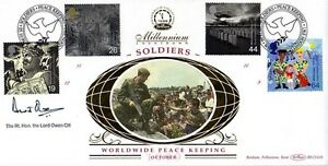 5 OCTOBER 1999 SOLDIERS TALE BENHAM SIGNED LORD OWEN FIRST DAY COVER SHS - Weston Super Mare, Somerset, United Kingdom - 5 OCTOBER 1999 SOLDIERS TALE BENHAM SIGNED LORD OWEN FIRST DAY COVER SHS - Weston Super Mare, Somerset, United Kingdom