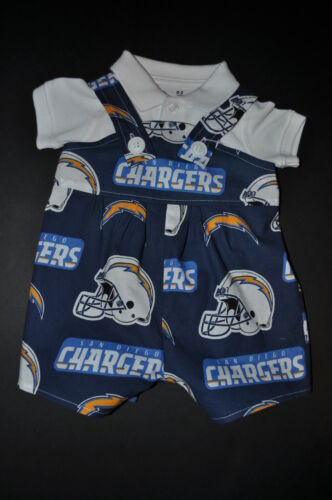 NFL San Diego Chargers Baby Infant Toddler Boys Jumper Overalls *You Pick Size*