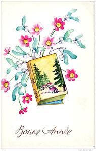 Carte-Postale-Gaufree-et-illustree-Bonne-Annee