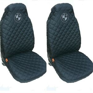 front seat covers for bmw 1 3 5 series x3 x5 black ebay. Black Bedroom Furniture Sets. Home Design Ideas