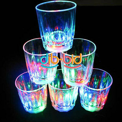 LED Colorful Flashing Parties Bar Plastic Cup Beer Mug Handheld Drinking DB