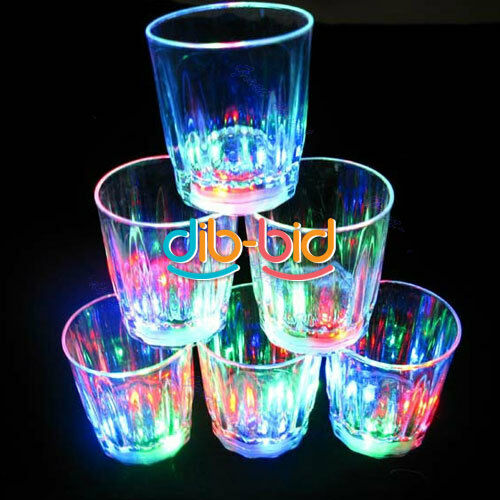 1Pcs LED Blinking Beer Mug Multi Color Flashy Light Up Barware Party Supply