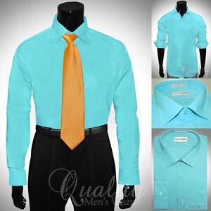 Lucasini-Convertible-Cuff-Dress-Shirt-Aqua-17-36-37-Oxford-Hidden-Placket-55