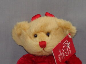 NEW RED HOT HOTTIE VALENTINE'S DAY DEVIL BEAR RUSS BLAZE PLUSH STUFFED ANIMAL