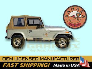 1992 1993 1994 jeep wrangler sahara edition yj decals stripes kit ebay. Black Bedroom Furniture Sets. Home Design Ideas
