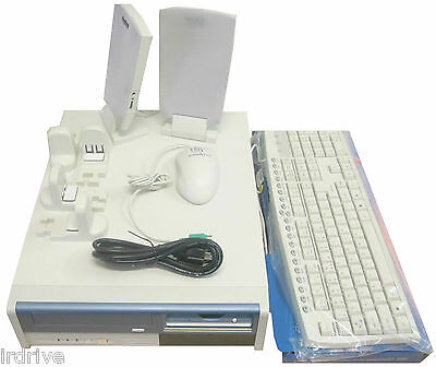 PC Barebone System Kit:Micro ATX Slim Desktop Computer Case, PS,KB,Mouse,Speaker