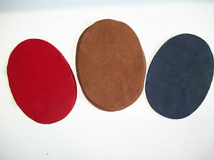 (2) DEERSKIN SUEDE LEATHER ELBOW PATCHES - 5''BY 3.5'' MADE IN THE USA