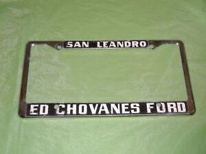 old san leandro ca ford metal tag license plate frame ebay. Black Bedroom Furniture Sets. Home Design Ideas