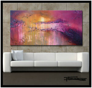 HUGE-MODERN-ABSTRACT-PAINTING-CANVAS-WALL-ART-60-x-30