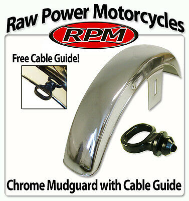 Suzuki GT500 A/B 1975-1978 Chrome Front Mudguard (Free Cable Guide!)