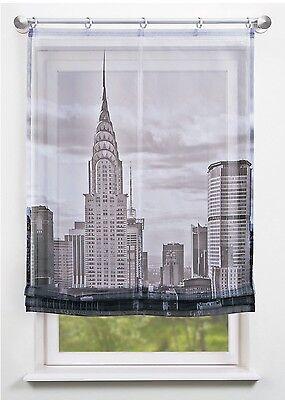 RAFFROLLO bedruckt  Digitaldruck NEW YORK 80/ 100/ 120x140cm