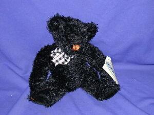 "Spookie Sparkles Black Halloween Teddy Bear by Ganz 9"" Mint"