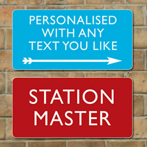 RAILWAY-STATION-SIGNS-Personalised-Metal-Signs-General-Signs-Outdoor-Unbreakable