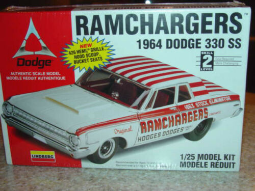 1964 Dodge 330 SS Hodges Dodges 125th Lindberg Sealed Model Kit Original Mint