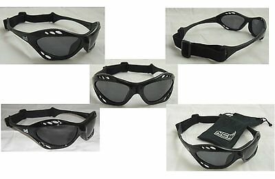 Wraparound Sport Sunglasses Polarized UVA / B lenses idela for skaters & runners
