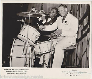 LOUIS-ARMSTRONG-amp-SID-CATLETT-JAZZ-BIG-BAND-MUSICIANS-VINTAGE-RCA-PROMO-PHOTO