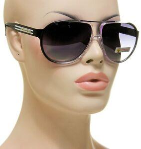 New-Womens-Biohazard-118-Aviator-Black-Purple-Transparent-Clear-Frame-Sunglasses