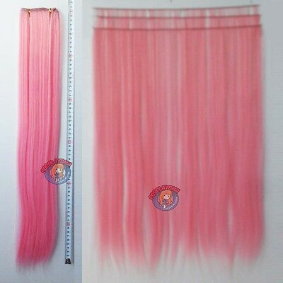 "24"" Light pink Heat Stylable Hair Weft Extention (3 pieces) Cosplay DNA 7LLP"