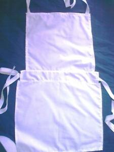 WHITE-COTTON-NURSE-APRON-FOR-CHILDREN-FANCYDRESS-WORLD-BOOK-DAY-SCHOOL-PLAYS