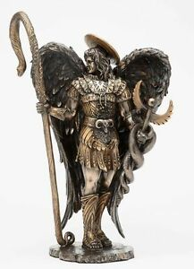 12-034-H-St-Saint-Raphael-Archangel-Statue-With-Healing-Staff-Figurine-Collectible