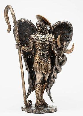 "12""H St. Saint Raphael Archangel Statue With Healing Staff Figurine Collectible"