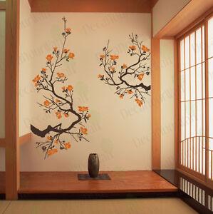 Cherry blossom wall decal living room bedroom flower removable vinyl sticker ebay - Sticker on wall decor ...